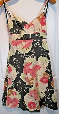 Women S Spring Fashion Forever 21 Multi Color Floral Print Dress Small Made Usa Ebay