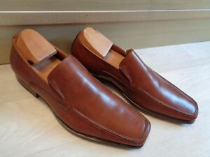 New Loake L1 brown loafer UK 6 39.5 Harry full leather pointed toe slip on BNWOB