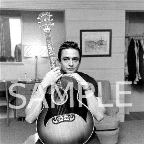 Fabric Art Quilt Block Cotton   JC2 Johnny Cash