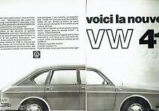PUBLICITE ADVERTISING 026  1968   Volkswagen la VW 411  (2p)