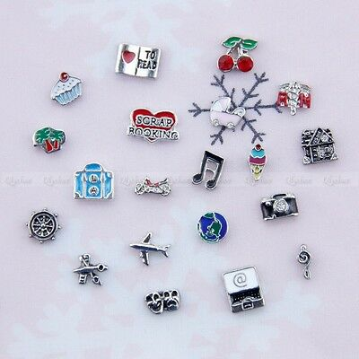 1p New Alloy MINI Floating Locket Charms for Glass Living Memory Lockets Fashion