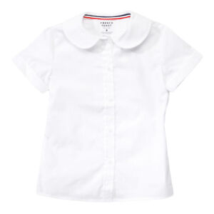 a2ba340cd5a Girls White Blouse Peter Pan Collar Short Sleeve French Toast Sizes ...