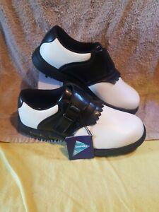 HI-TEC SYMPATEX Golf Shoes Size 4 UK White And Black NEW