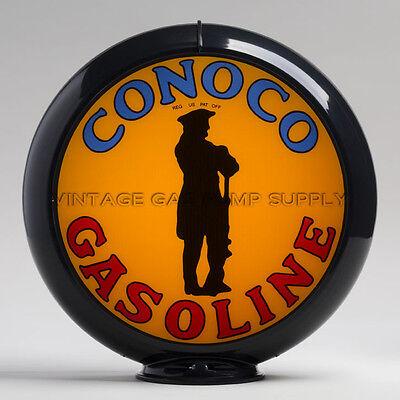 "Hudson 13.5/"" Gas Pump Globe w// Orange Plastic Body G140"