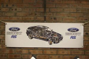 Ford-Escort-RS-Cosworth-4x4-Grande-PVC-Banner-Garaje-Tienda-De-Trabajo-Clasico