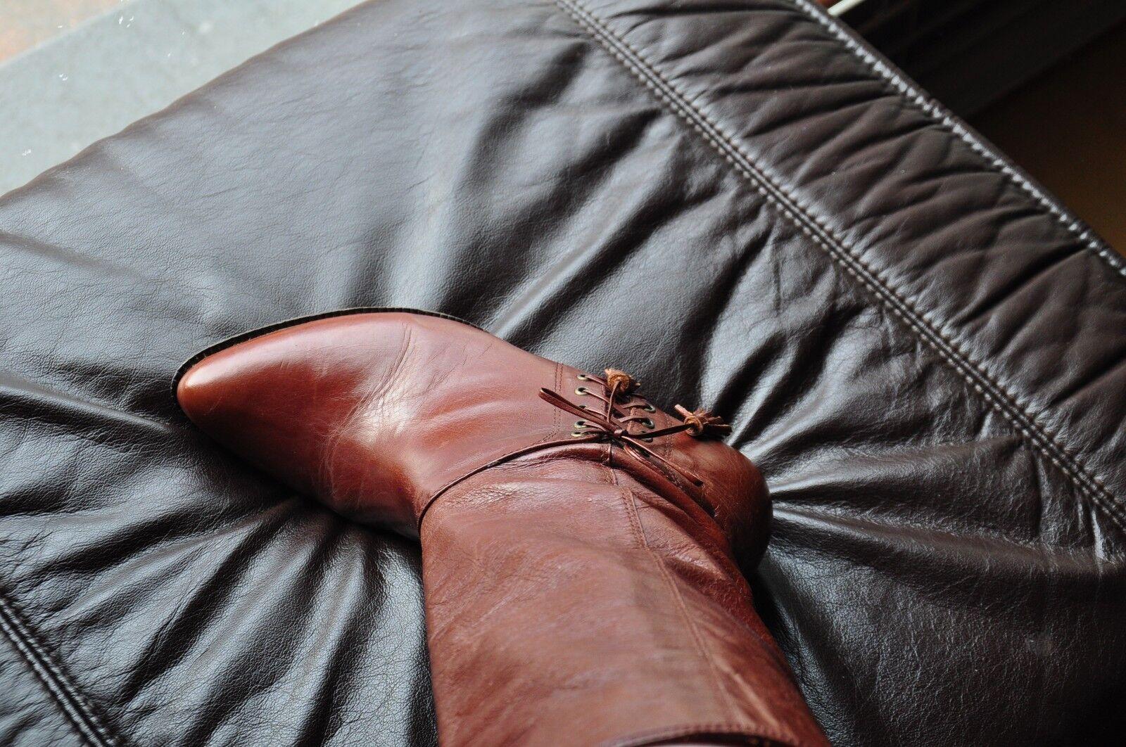 Vintage Invito Spain hochwertige Leder Stiefel  gr. 39