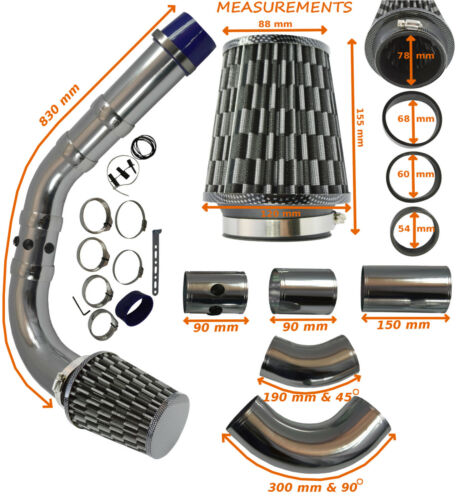 UNIVERSAL PERFORMANCE COLD AIR FEED INDUCTION INTAKE KIT – Ford 3
