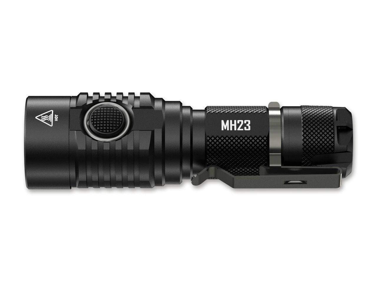 Nitecore Multitask Hybrid Hybrid Multitask MH23 Taschenlampe LED 1800lm USB 3500mAh & SG7 Silikon a27d84