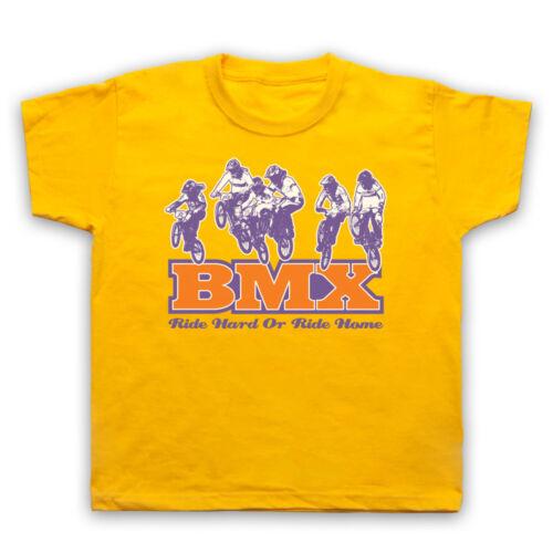 BMX RIDE HARD OR RIDE HOME BIKE RIDING RIDER TRACK DIRT MENS WOMENS KIDS T-SHIRT