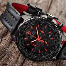 DETOMASO FIRENZE XXL 48MM CHRONOGRAPH MENS WATCH BLACK S-STEEL RED NEW RRP £159