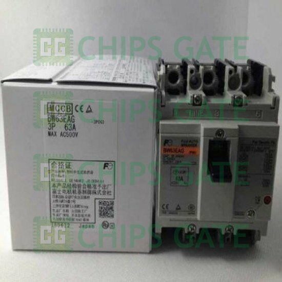 1PCS New Fuji BW63EAG 3P 63A Circuit breaker Fast ship with warranty