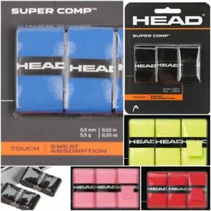 HEAD Tennis Badminton Squash Raquette Bande Grip Anti-dérapant Overgrip Sur Grip