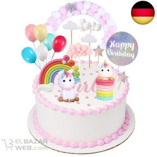 Einhorn Tortendeko Geburtstag Kuchen kinder Einhorn Kuchen Topper 9er Set
