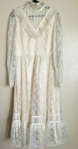 Vintage 1970's Gunne Sax Style RARE LARGE SIZE Wed
