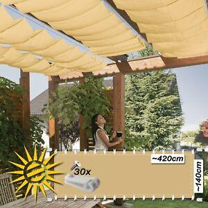 Favorit Seilspannmarkise sand ca 420x140 cm Sonnensegel Wintergarten ZZ66