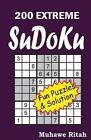 200 Extreme Sudoku by Muhawe Ritah 9781500305666 Paperback 2014