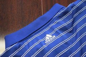 38754-Mens-Adidas-Golf-ClimaCool-Striped-Short-Sleeve-Golf-Polo-Shirt-Size-XL