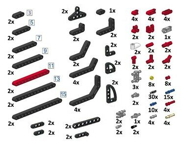 LEGO 32316 Technic Liftarm 1x5 Select Colour FREE P/&P! Pack Size