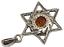 thumbnail 4 - Star of David Pendant Genuine Baltic Brown Amber 925 Sterling Silver  # 55