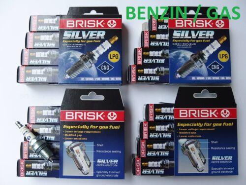 16x bougie d/'allumage BRISK Silver s/'adapte pour l/'essence gaz GPL MERCEDES 430 500 AMG 43 55