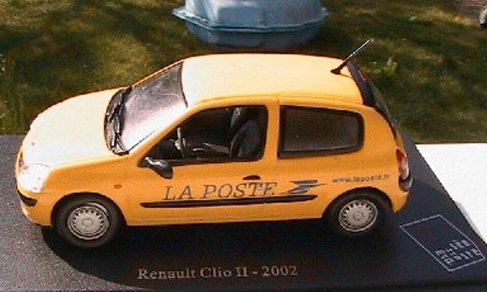 RENAULT CLIO 2 II 2002 MUSEE DE LA POSTE UNIVERSAL UNIVERSAL UNIVERSAL HOBBIES 1 43 yellow PTT POSTES 3ac772