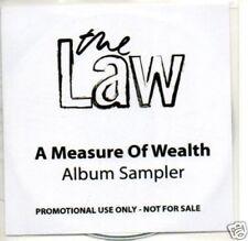 (170Q) The Law, A Measure of Wealth sampler - DJ CD