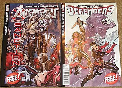 Marvel Defenders Avengers X-Sanction  Promo  1-shot  Flip Book