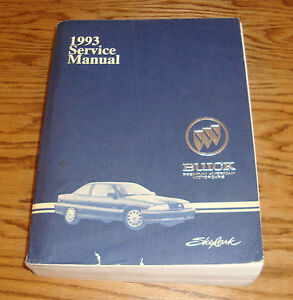 Original 1993 Buick Skylark Shop Service Repair Manual 93 border=