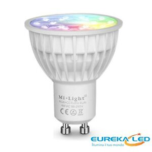 Faretti G10 Led.Details About Spotlight Led Gu10 4w Rgb Cct Dimmer Lamp Mi Light Wifi Chromotherapy Show Original Title