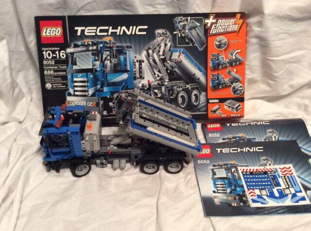 Lego Technic Container Truck 8052 With Box Decals Instructions