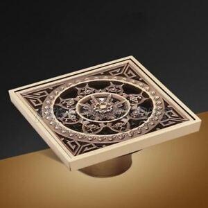 Antique-Brass-Square-Bathroom-Shower-Drainer-Waste-Drainer-Floor-Drain-Phr024