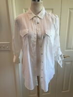 I Jeans By Buffalo Women's Size L White Button Down