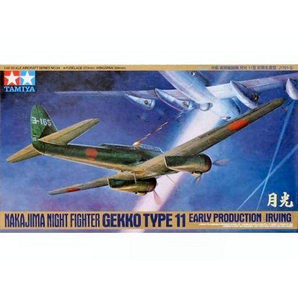 Tamiya 61084 Nakajima J1N1S Gekko Early Irving 1 48 scale plastic model kit