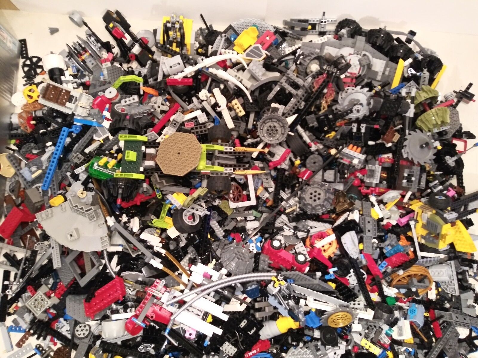 Bulk Lots of LEGO Technic Beams Lift Arms Pins Wheels Specialty - By the Pound
