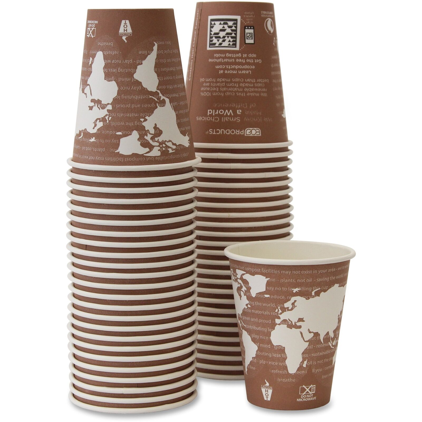 Eco-Products Hot Drink Cups 16 oz. 10PK 10PK 10PK CT World Art EPBHC8WACT 8606dc