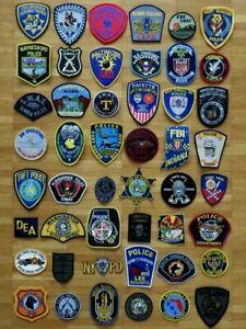 Konvolut  48 x Police Patch USA Polizei Abzeichen SPECIAL BOMBEN TAUCHER DEA FBI