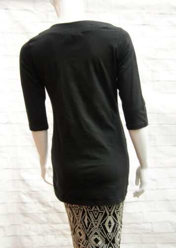 CANDY COUTURE BLACK STRETCH JERSEY 60/'s TUNIC TOP Sizes M,XL 9-16yrs