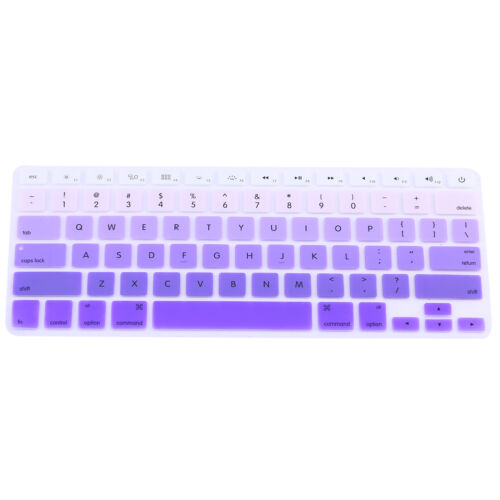 """Rainbow Silicone Keyboard Case Cover Skin Protector for iMac Macbook Pro 13/"""" 15/"""""""
