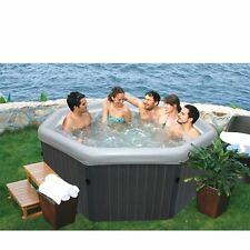 MSpa Luxury Tuscany Octagonal Bubble & Jet Spa - 4-5 Person Hot Tub PM-610S