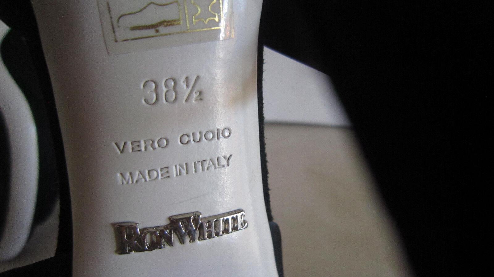 Ron Blanco Negro Gamuza Duquesa Classics Bombas Caja Talle 8,5 Nuevas Sin Caja Bombas Reg f6ddee