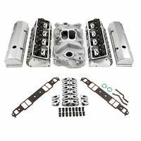 Chevy Sbc 350 Hyd Ft 190cc Straight Plug Cylinder Heads Top End Engine Kit