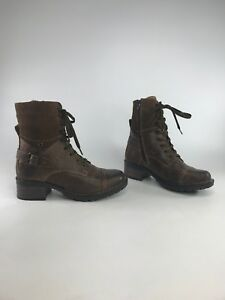 72d98172df0a Taos Women s Crave Leather Combat Ankle Boots--
