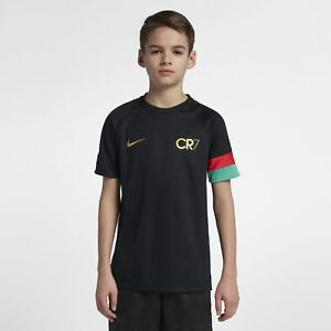 498b0ca7ef6c Boy's Nike Dri-FIT Academy CR7 Soccer Top Black Metallic Gold Size L ...
