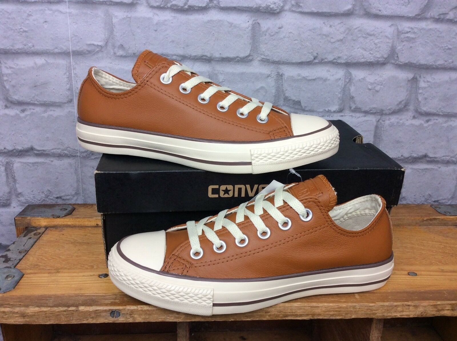 Converse Donna EU 37.5 ALL STAR OX OX OX III   Da Ginnastica in Pelle Marrone Chiaro 599149