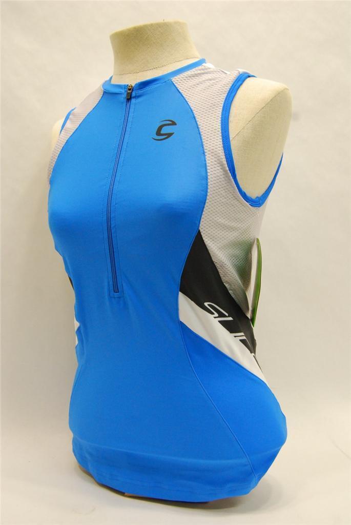 Cannondale Donna Fetta Top Jersey 3F180  Medio M  Blu  Nuovo