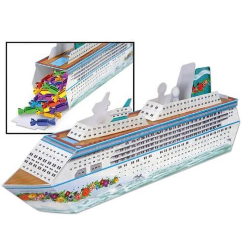 Cruise Ship Centerpiece Favor Box Nautical Cruise Party Birthday Decoration