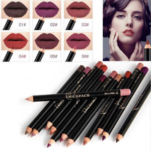 Waterproof-Pencil-Lipstick-Pen-Matte-Lip-Liner-Long-Lasting-Makeup-12-Colors