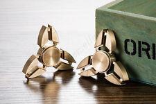 Copper Tri Spinner Fidget Hand Toy EDC Desk Focus ADHD Metal Triangle Ceramic