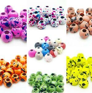 Speckled Matt White 3.3mm Tungsten Beads Fly Tying Materials