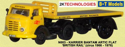 B-t Modelos n003 Karrier Bantam plana con los ferrocarriles británicos 1/148th Escala Nuevo En Caja